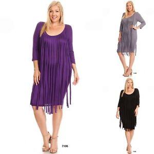 Details about Dress Plus Size Purple Fringe Scoop Neck Stretch Bodycon  Bandage