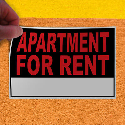 Set of 2 54inx36in Decal Sticker Multiple Sizes Apartment for Rent Orange Blue Business Apartment for Rent Outdoor Store Sign Orange