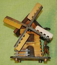 RARITÄT!! Alte Spieluhr mit Spardose aus der Schweiz Windmühle Spieldose