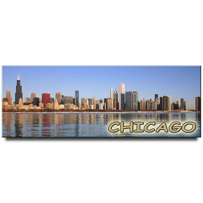 Chicago Illinois USA fridge magnet travel souvenir
