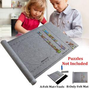 Roll-Up-Ablage-fuer-Filze-Puzzle-Mat-Decke-mit-Puzzle-Felt-Beutel-zum-Speichern