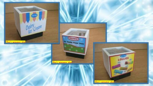 1:12 scale dollshouse miniature handmade shop//store freezer items 3 to choose