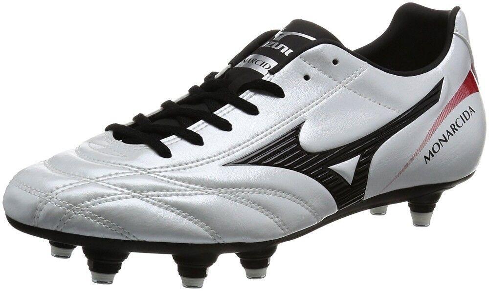 MIZUNO soccer Spike MONARCIDA 2 FS SI P1GC1723 Super Weiß pearl X schwarz X rot
