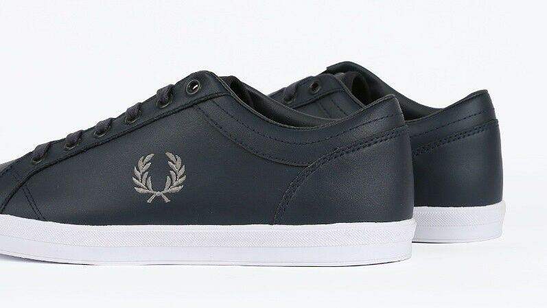 FRED PERRY BLACK BASELINE LEATHER B3058