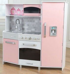KIDKRAFT-LARGE-MODERN-PASTEL-PINK-WOODEN-PLAY-KITCHEN-KIDS-CHILDS-GIRLS-TOY
