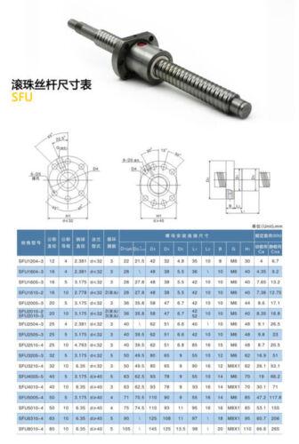 SFU2505-3Ballscrew Nut 16mm Flange Type Seat For RM2505 SFU2505 Ballscrew