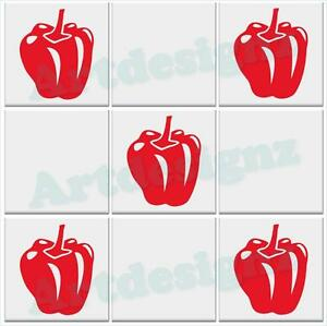 PEPPER-Bell-Tile-Stickers-Kitchen-Peppers-Vinyl-Wall-Art-Decal-Transfer-AD43