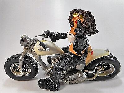 Motorrad Biker 18 cm Funny World Tattoo Chopper Rocker Rider USA Deko GV 2102