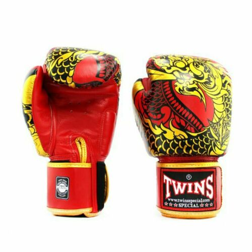 Twins FBGVL3-52 Nagas Boxing Gloves Red//Gold