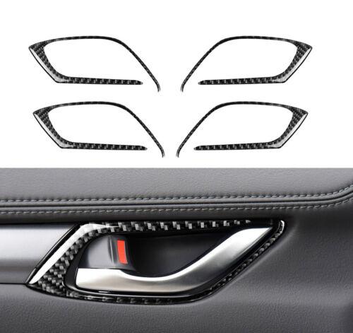 For Mazda CX-5 CX5 2017 2018 Carbon Fiber Interior Door Handle Cover Frame Trim