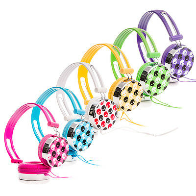 Skull Over the Head Boys Girls Childrens Kids DJ Headphones Headsets iPod Laptop