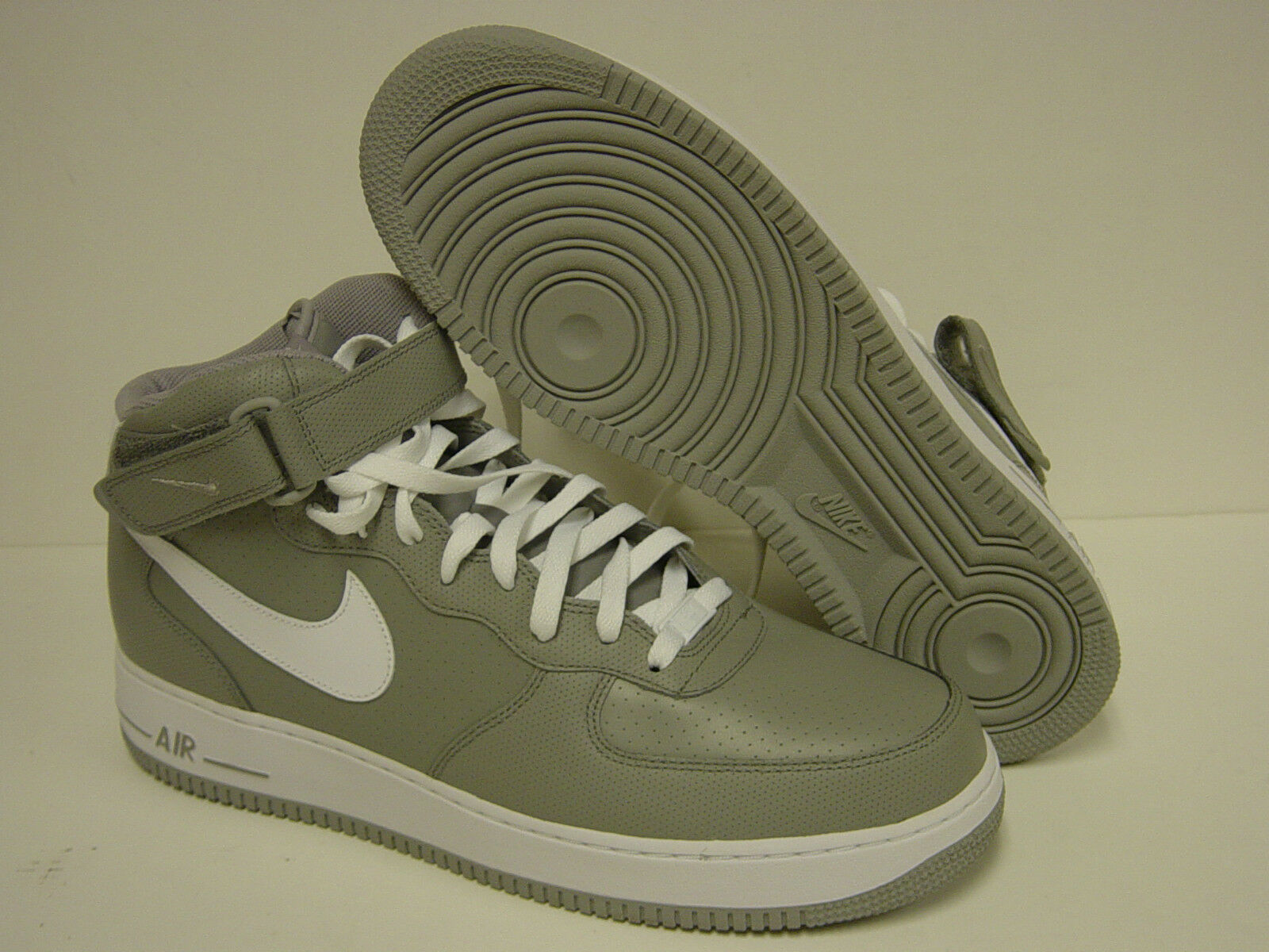 nouveau   nike air force force air 1 mi - 2007 315123 008 perf Gris  chaussures chaussures 173544