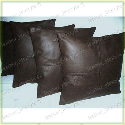 New Genuine Soft Lambskin Pure Leather Pillow Cushion Cover All sizes PS19