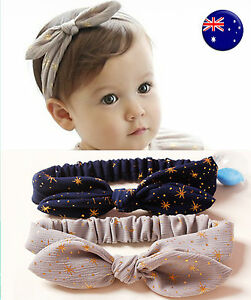 Girls Baby Kids Chic Fashion Bunny Ear Bow Headband Hair band Bandana prop