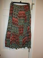 Cato's Ladies Size Small Skirt Elastic Waist Multi-colored Lined Full Flowing