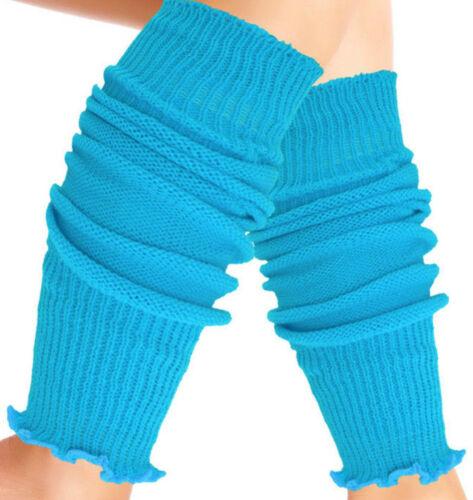 Children Girls Teen 80/'s Dance Plain Ribbed Leg Warmers 11 Colours Tu Legwarmer
