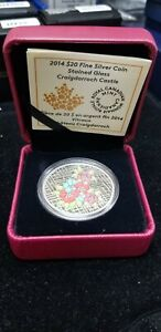 2014-Canada-20-Silver-034-Stained-Glass-Craigdarroch-Castle-034-Coin