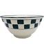 Hartstone-Dark-Green-Check-Mixing-Bowl-2-Rib-Farmhouse-Checkerboard-9-5-034-Nesting thumbnail 1