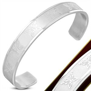 Butterfly-Cuff-Bracelet-Stainless-Surgical-Steel-Hypoallergenic