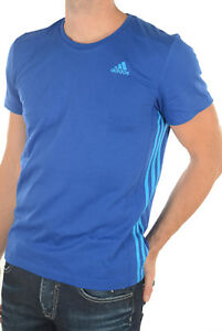 Tee-shirt-Adidas-Performance-Climalite-Bleu