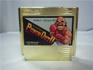 Nintendo-Famicom-Punch-Out-Gold-Cartridge-NES-1987-NOT-FOR-SALE-Rare