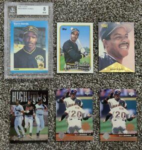 Barry-Bonds-6-card-Lot-1987-Fleer-Graded-8-Rookie-1989-Topps-Pirates-Giants