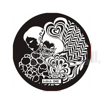 Nail Art Stamp Stamping Image Template Plate HEHE Series 3 (37-60) *** NEW ***