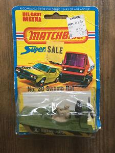 Matchbox superfast  no 30  swamp rat  1976 Metal Car Toy Diecast toys