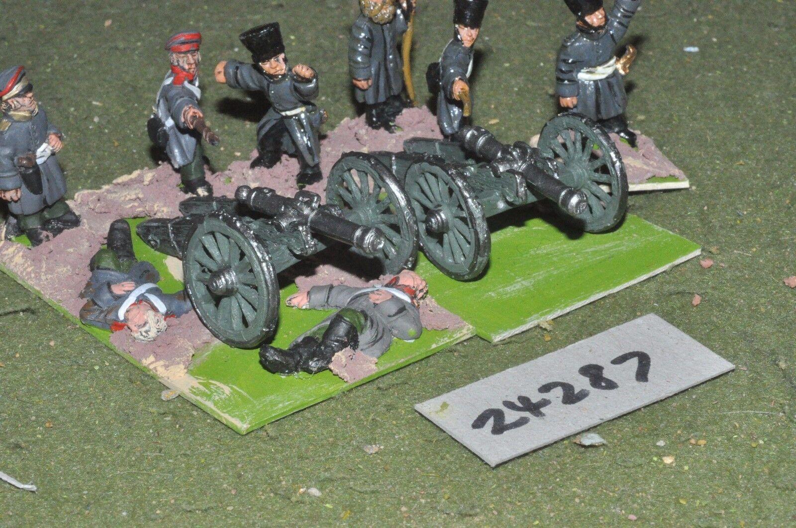 28mm 19th century   russian - 2 guns & crews crimean - art (24287)