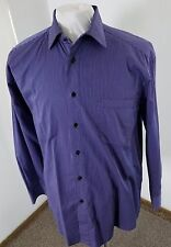 MADE IN ITALY Men's ST. CROIX Luxury Casual Shirt Purple Thin Stripe Sz Large!