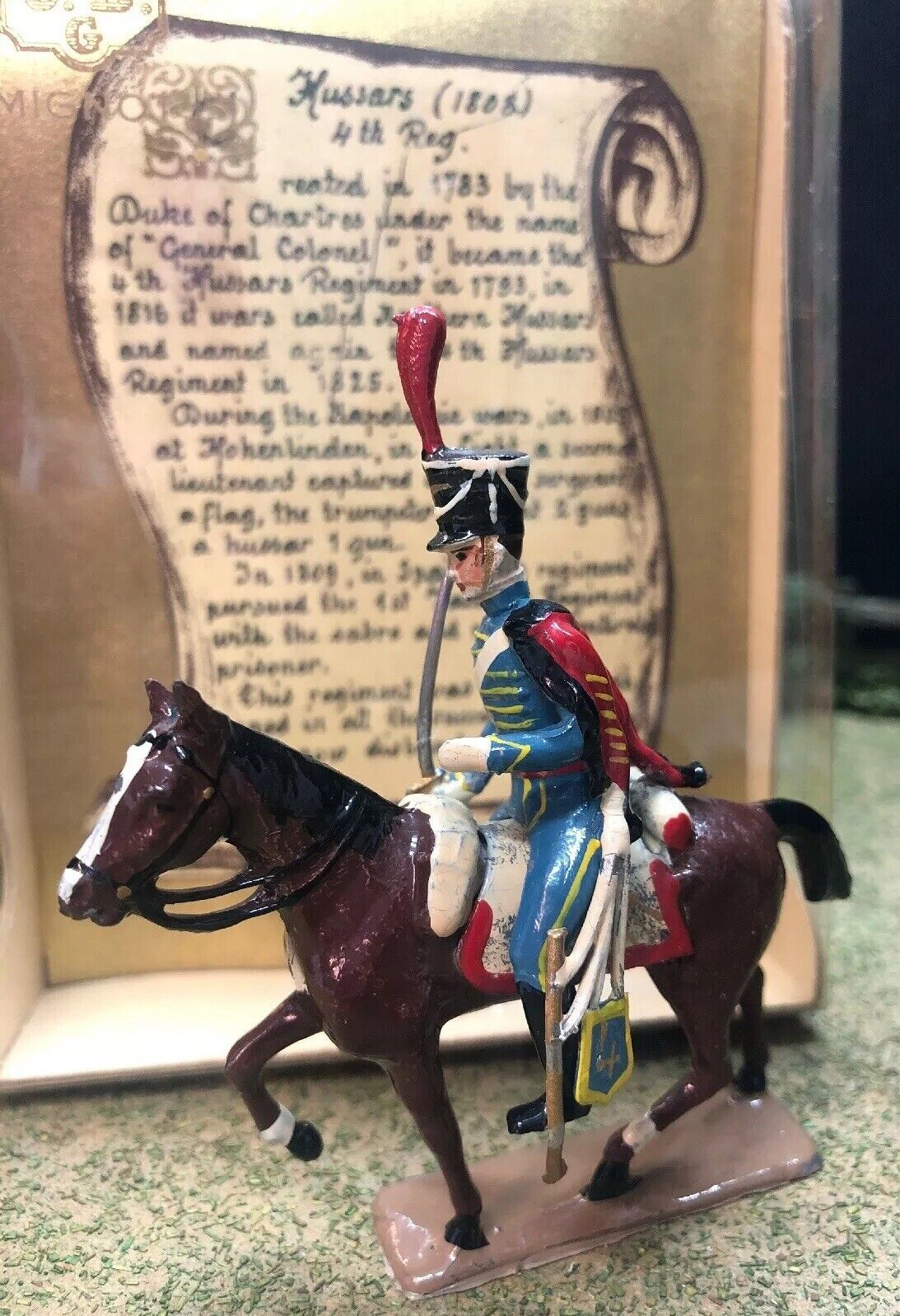 CBG Mignot SetSingle Hussars Cavalry 1st Empire (1808) 4th Reg. 54mm scale