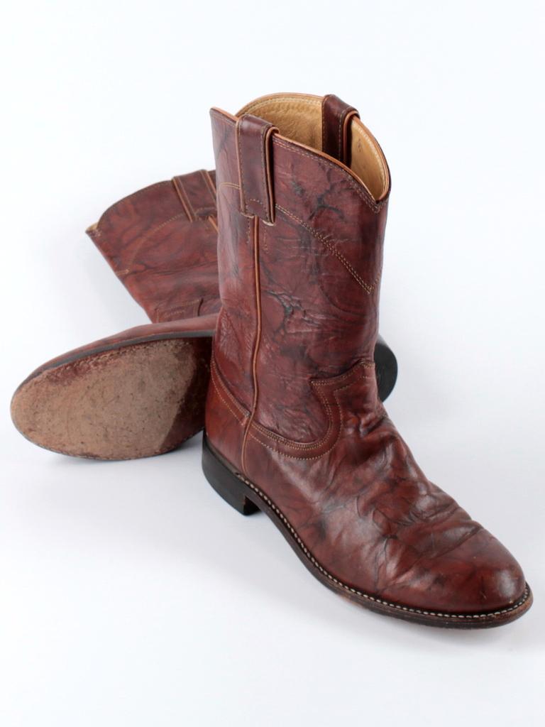 Damens Justin Marbled Deerlite L3163 Western Cowboy Leder Stiefel Größe 6.5 C