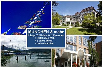 Aggressiv ´mÜnchen+mehr Top Kurztrip 4 Tage Zu Zweit Z.b. Im 4* Hotel - 3 Jahre Gültig