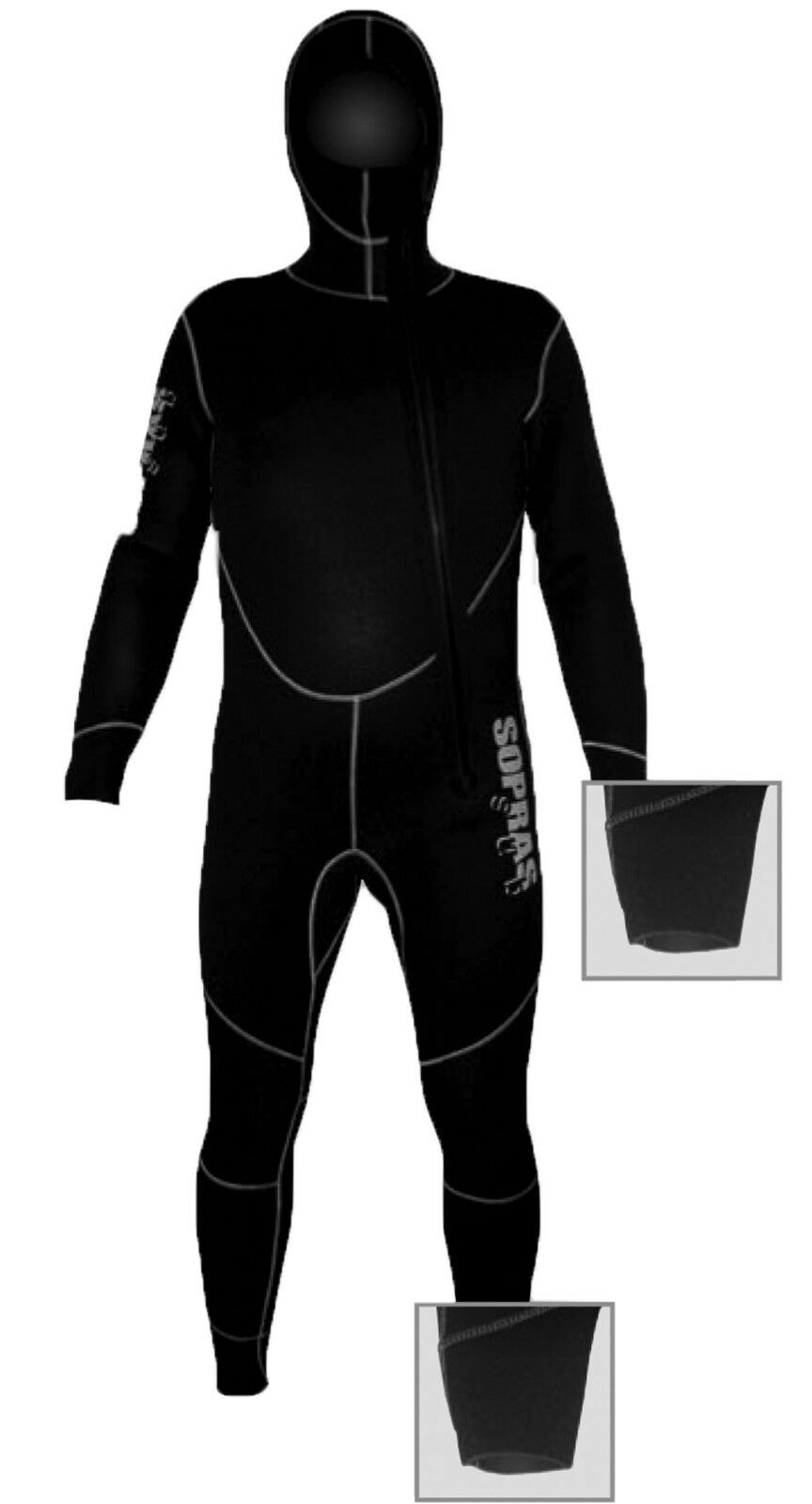 SOPRAS SUB  AMALFI   5MM HOODED JUMPSUIT WETSUIT SCUBA DIVING MALE FREEDIVING  high discount