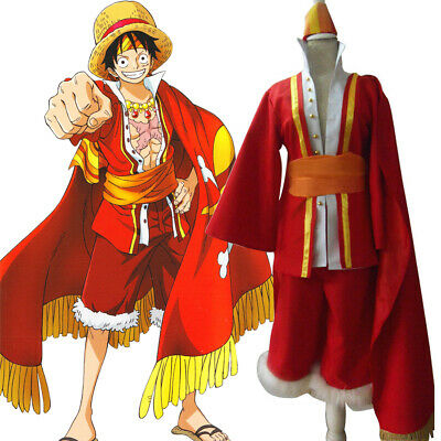 One Piece Monkey D Luffy Animation 15th Anniversary Outfit Cosplay Costume H028 Ebay