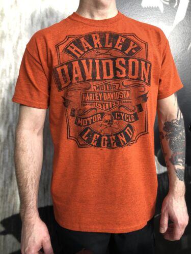 Harley-Davidson Men/'s Orange moto concessionnaire t-shirt LANCASHIRE ENGLAND