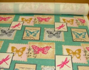 """1M Large BUTTERFLY  GEORGETTE CHIFFON FABRIC 58/"""" WIDE NEW"""