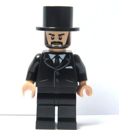 LEGO Flesh Minifigure Figure Black Suit Beard Top Hat Wedding Groom  Best Man