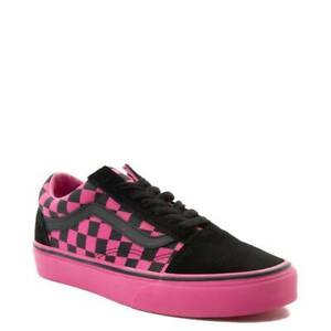noir and pink vans chaussures