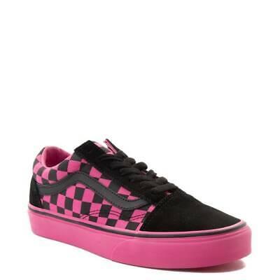 Vans Old Skool Chex Skate Scarpe Nero Rosa a Scacchiera Nuovo | eBay