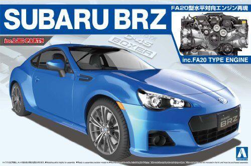 Aoshima The Best Coche Gt Subaru Brz '12 con   Motor Maqueta de Plástico en Kit
