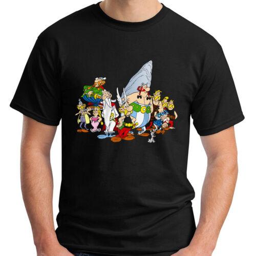 New Asterix Obelix The Gaul Comic Cartoon Men/'s Black T Shirt Sizes S to 3XL