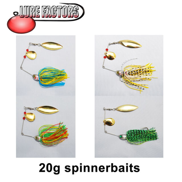 20g  SPINNERBAIT BUZZBAIT LURE PLUG SPINNER PIKE BASS PERCH FISHING