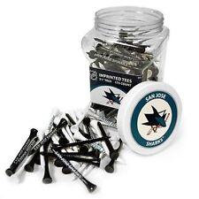 NHL San Jose Sharks Golf Tee Jar 175 Count Club Course Driver Box Accessory