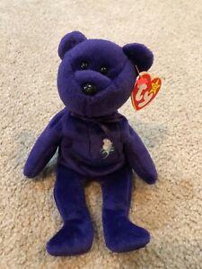 77bd88a3419 Ty Princess Diana Beanie Baby Bear RARE 1st EDITION 1997 PE Pellets ...