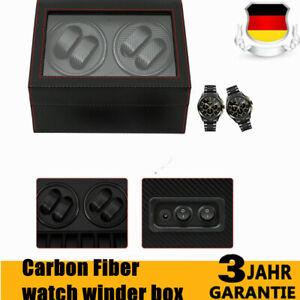 4-6-Automatico-Orologio-case-Carbon-Fiber-watch-Winder-display-storage-box-DHL