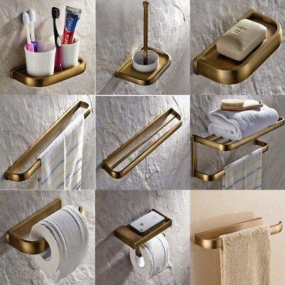 Antique Brass Carved Bathroom Accessories Set Bath Hardware Set Towel Bar Pxz011