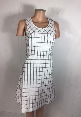 J CREW White Plaid Dress Womens 2