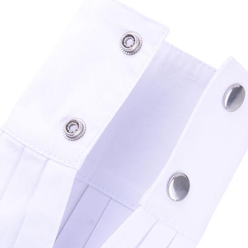 2x künstlich Manschette Falsch Handgelenk Ärmel Faux Sleeve Wristband Wrist Cuff