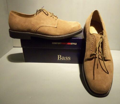 NIB NEW Bass Men/'s Brockton Taupe//Brown Leather Tie Oxford Shoes SIZES